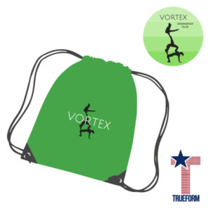TrueForm Vortex Gymnastics GYM sac – Lime-Green